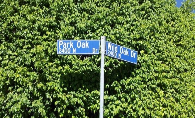 Sign Park Oak