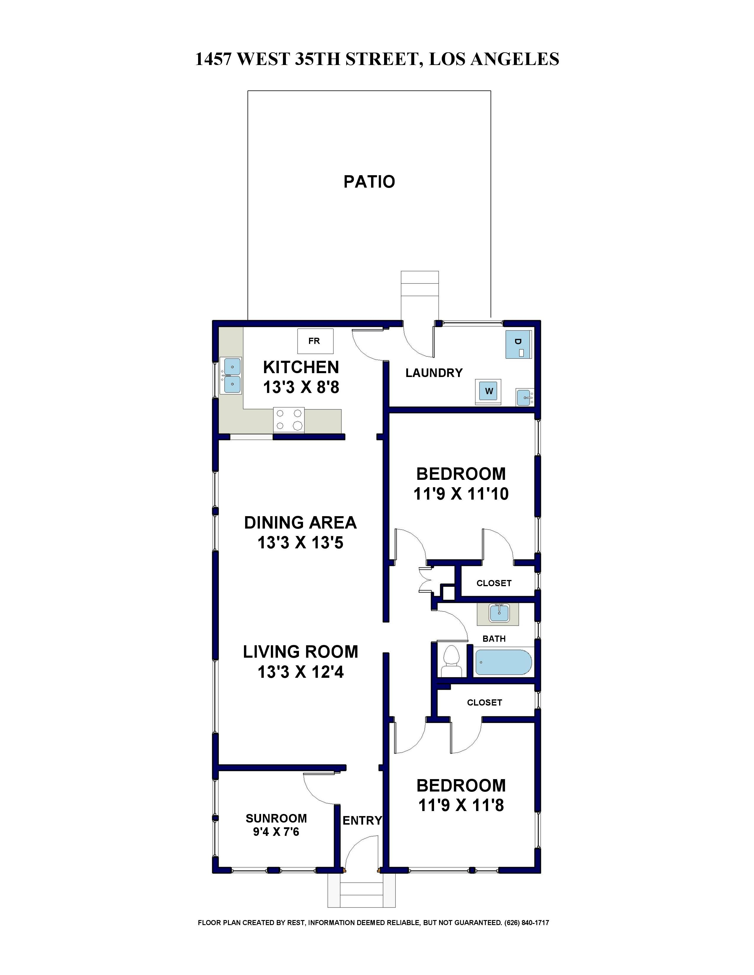 1457 W 35TH ST FLOOR PLAN